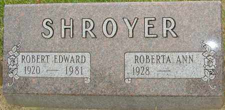 SHROYER, ROBERT EDWARD - Montgomery County, Ohio | ROBERT EDWARD SHROYER - Ohio Gravestone Photos