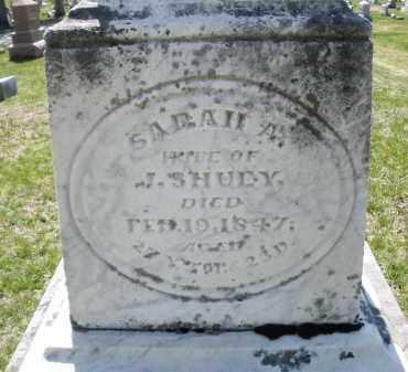 SHUEY, SARAH A. - Montgomery County, Ohio | SARAH A. SHUEY - Ohio Gravestone Photos