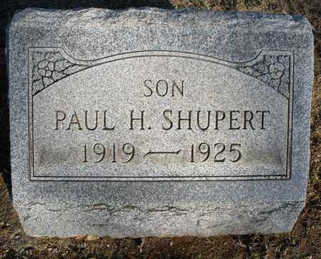 SHUPERT, PAUL H. - Montgomery County, Ohio | PAUL H. SHUPERT - Ohio Gravestone Photos