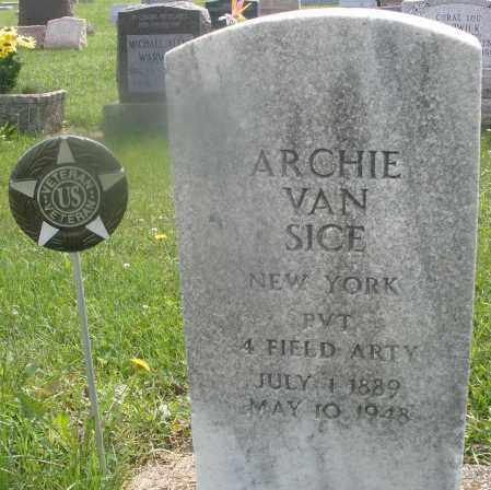 SICE, ARCHIE VAN - Montgomery County, Ohio | ARCHIE VAN SICE - Ohio Gravestone Photos