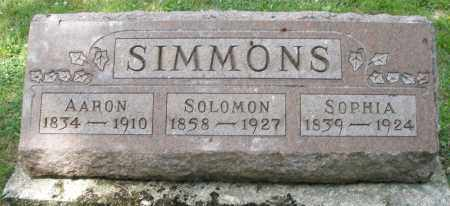 SIMMONS, SOLOMON - Montgomery County, Ohio | SOLOMON SIMMONS - Ohio Gravestone Photos