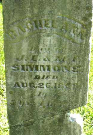 SIMMONS, RACHEL ANN - Montgomery County, Ohio | RACHEL ANN SIMMONS - Ohio Gravestone Photos