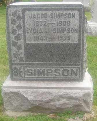SIMPSON, JACOB - Montgomery County, Ohio | JACOB SIMPSON - Ohio Gravestone Photos