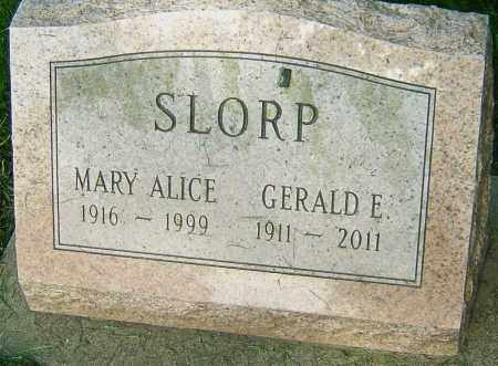 SLORP, MARY ALICE - Montgomery County, Ohio | MARY ALICE SLORP - Ohio Gravestone Photos