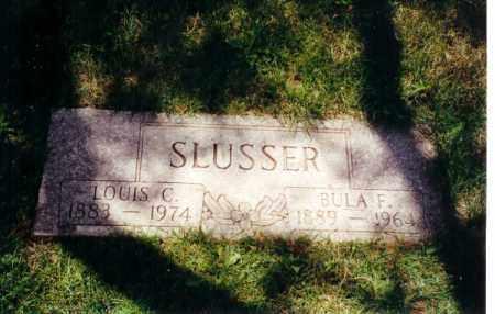 SLUSSER, LOUIS C - Montgomery County, Ohio | LOUIS C SLUSSER - Ohio Gravestone Photos
