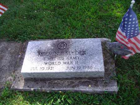 SLYDER, MELVIN E - Montgomery County, Ohio | MELVIN E SLYDER - Ohio Gravestone Photos