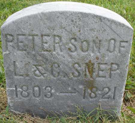 SNEP, PETER - Montgomery County, Ohio | PETER SNEP - Ohio Gravestone Photos