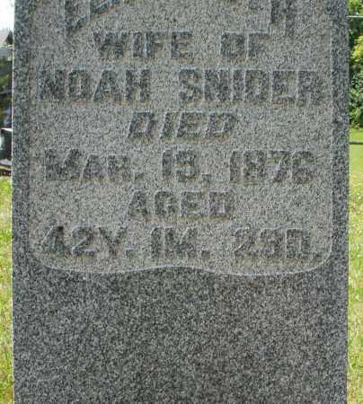 SNIDER, ELIZABETH - Montgomery County, Ohio | ELIZABETH SNIDER - Ohio Gravestone Photos