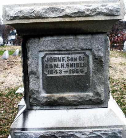 SNIDER, JOHN F. - Montgomery County, Ohio | JOHN F. SNIDER - Ohio Gravestone Photos
