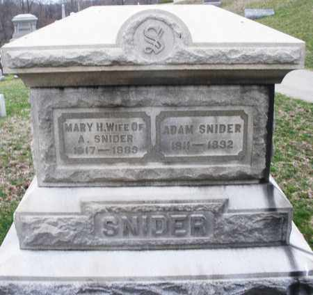 SNIDER, ADAM - Montgomery County, Ohio | ADAM SNIDER - Ohio Gravestone Photos
