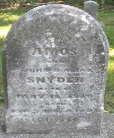 SNYDER, AMOS - Montgomery County, Ohio | AMOS SNYDER - Ohio Gravestone Photos