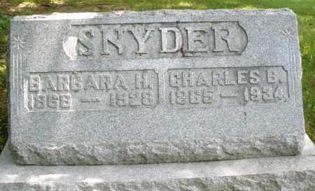 SNYDER, CHARLES B. - Montgomery County, Ohio | CHARLES B. SNYDER - Ohio Gravestone Photos
