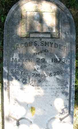 SNYDER, JACOB S. - Montgomery County, Ohio | JACOB S. SNYDER - Ohio Gravestone Photos