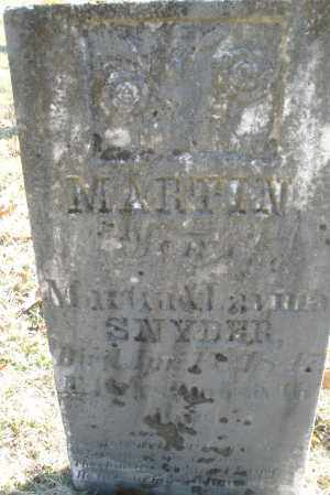 SNYDER, MARTIN - Montgomery County, Ohio | MARTIN SNYDER - Ohio Gravestone Photos