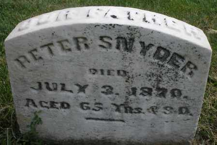 SNYDER, PETER - Montgomery County, Ohio | PETER SNYDER - Ohio Gravestone Photos