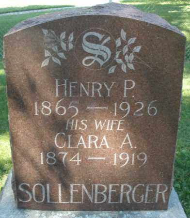 SOLLENBERGER, HENRY P. - Montgomery County, Ohio | HENRY P. SOLLENBERGER - Ohio Gravestone Photos