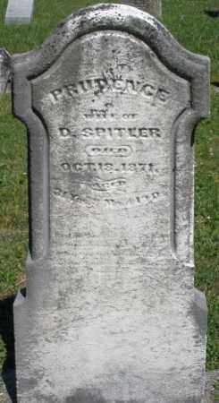 SPITLER, PRUDENCE - Montgomery County, Ohio | PRUDENCE SPITLER - Ohio Gravestone Photos