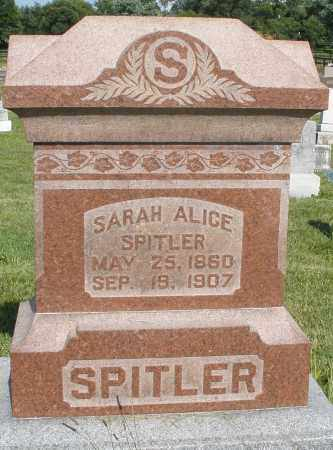 SPITLER, SARAH ALICE - Montgomery County, Ohio | SARAH ALICE SPITLER - Ohio Gravestone Photos