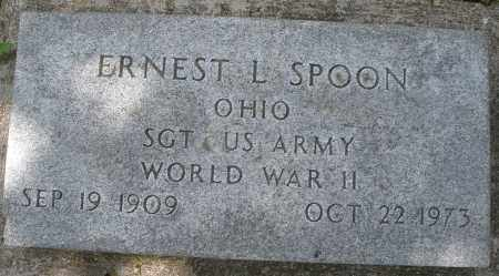 SPOON, ERNEST L. - Montgomery County, Ohio | ERNEST L. SPOON - Ohio Gravestone Photos