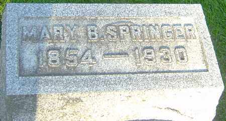 WELLER SPRINGER, MARY B - Montgomery County, Ohio | MARY B WELLER SPRINGER - Ohio Gravestone Photos