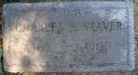 STAVER, CHARLES E. - Montgomery County, Ohio | CHARLES E. STAVER - Ohio Gravestone Photos