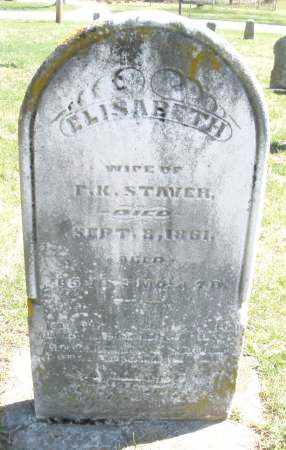 STAVER, ELISABETH - Montgomery County, Ohio | ELISABETH STAVER - Ohio Gravestone Photos