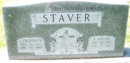 STAVER, J. FREDERICK - Montgomery County, Ohio | J. FREDERICK STAVER - Ohio Gravestone Photos