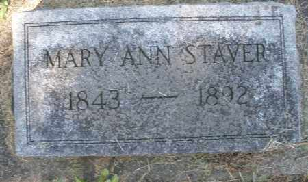STAVER, MARY ANN - Montgomery County, Ohio | MARY ANN STAVER - Ohio Gravestone Photos