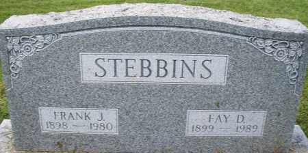 STEBBINS, FRANK J. - Montgomery County, Ohio | FRANK J. STEBBINS - Ohio Gravestone Photos