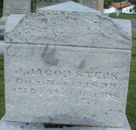 STECK, J. JACOB - Montgomery County, Ohio | J. JACOB STECK - Ohio Gravestone Photos