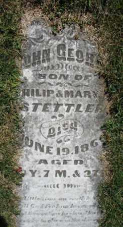 STETTLER, JOHN GEORGE - Montgomery County, Ohio | JOHN GEORGE STETTLER - Ohio Gravestone Photos