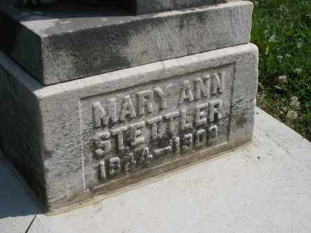 STETTLER, MARY ANN - Montgomery County, Ohio | MARY ANN STETTLER - Ohio Gravestone Photos