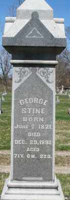 STINE, GEORGE - Montgomery County, Ohio | GEORGE STINE - Ohio Gravestone Photos