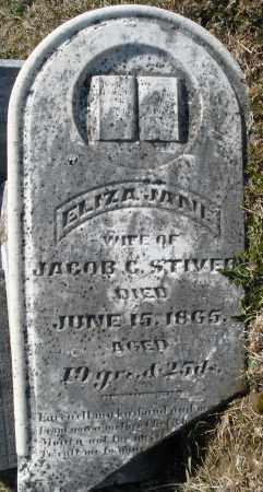 STIVER, ELIZA JANE - Montgomery County, Ohio   ELIZA JANE STIVER - Ohio Gravestone Photos