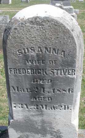 STIVER, SUSANNA - Montgomery County, Ohio | SUSANNA STIVER - Ohio Gravestone Photos