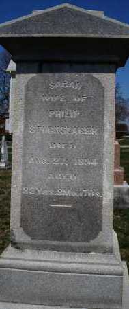 STOCKSLAGER, SARAH - Montgomery County, Ohio | SARAH STOCKSLAGER - Ohio Gravestone Photos