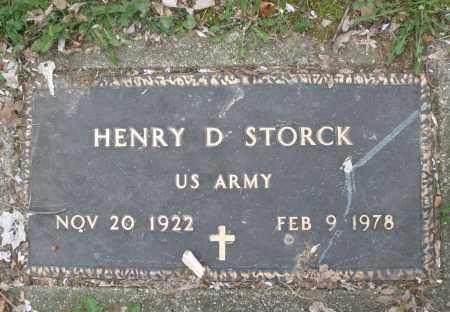STORCK, HENRY D. - Montgomery County, Ohio | HENRY D. STORCK - Ohio Gravestone Photos