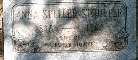 SPITLER STOUFFER, ANNA - Montgomery County, Ohio | ANNA SPITLER STOUFFER - Ohio Gravestone Photos