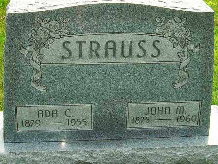 STRAUSS, JOHN M - Montgomery County, Ohio | JOHN M STRAUSS - Ohio Gravestone Photos