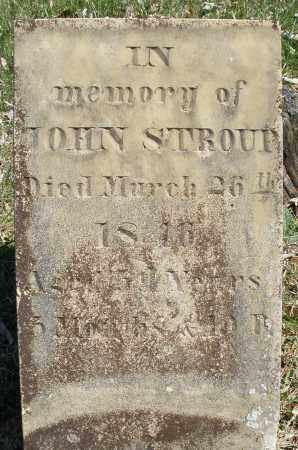 STROUP, JOHN - Montgomery County, Ohio | JOHN STROUP - Ohio Gravestone Photos