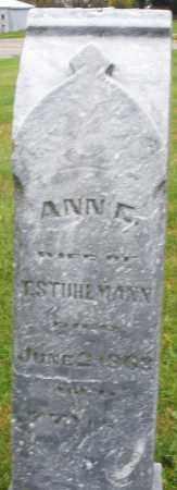 STUHLMAN, ANN - Montgomery County, Ohio | ANN STUHLMAN - Ohio Gravestone Photos