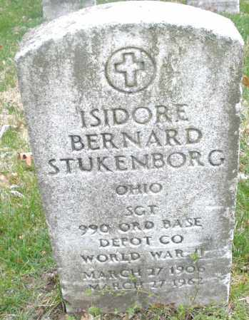 STUKENBORG, ISIDORE BERNARD - Montgomery County, Ohio | ISIDORE BERNARD STUKENBORG - Ohio Gravestone Photos