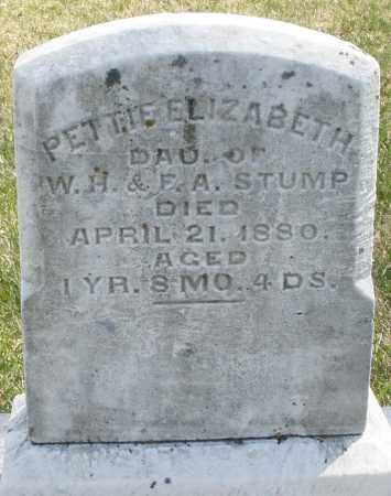 STUMP, PETTIE ELIZABETH - Montgomery County, Ohio | PETTIE ELIZABETH STUMP - Ohio Gravestone Photos