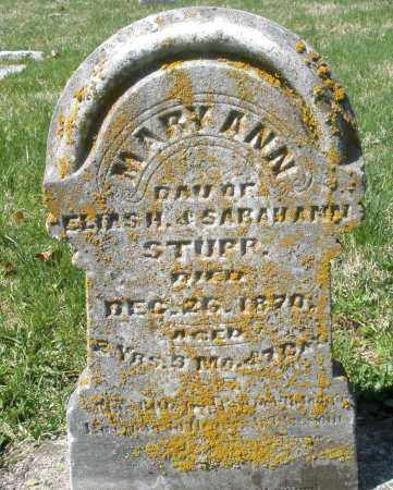 STUPP, MARY ANN - Montgomery County, Ohio | MARY ANN STUPP - Ohio Gravestone Photos