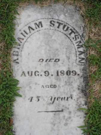 STUTSMAN, ABRAHAM - Montgomery County, Ohio | ABRAHAM STUTSMAN - Ohio Gravestone Photos