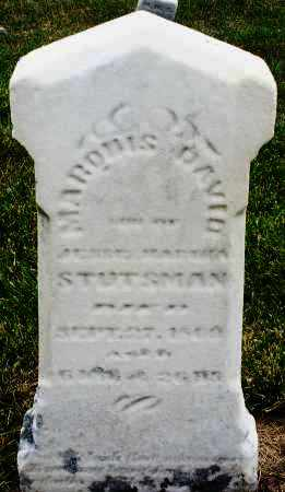 STUTSMAN, MARDUIS ? DAVID - Montgomery County, Ohio | MARDUIS ? DAVID STUTSMAN - Ohio Gravestone Photos