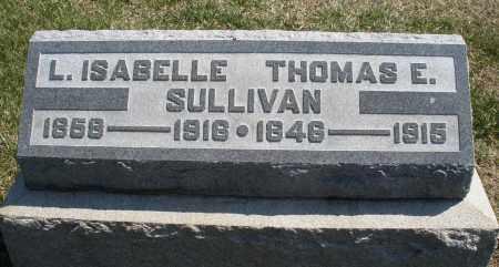 SULLIVAN, THOMAS  E. - Montgomery County, Ohio | THOMAS  E. SULLIVAN - Ohio Gravestone Photos