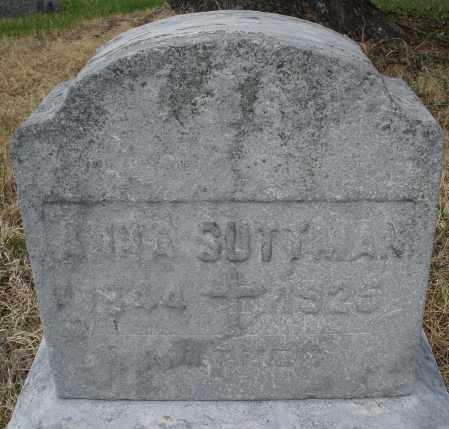SUTTMAN, ANNA - Montgomery County, Ohio | ANNA SUTTMAN - Ohio Gravestone Photos
