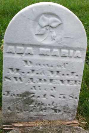 SWADENER, ADA MARIA - Montgomery County, Ohio | ADA MARIA SWADENER - Ohio Gravestone Photos