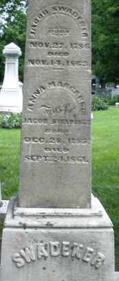 SWADENER, JACOB - Montgomery County, Ohio | JACOB SWADENER - Ohio Gravestone Photos